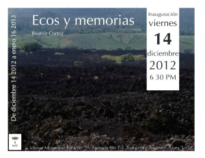 Ecos y memorias